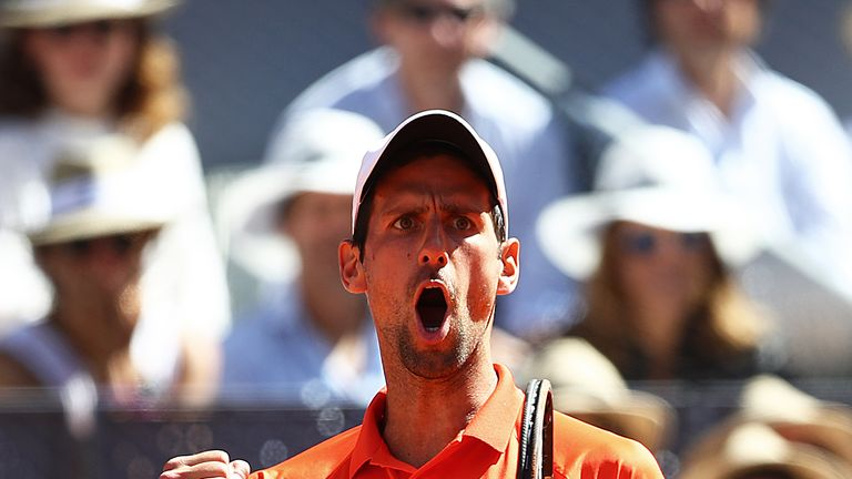 Djokovic produced arguably his best performance since the Australian Open