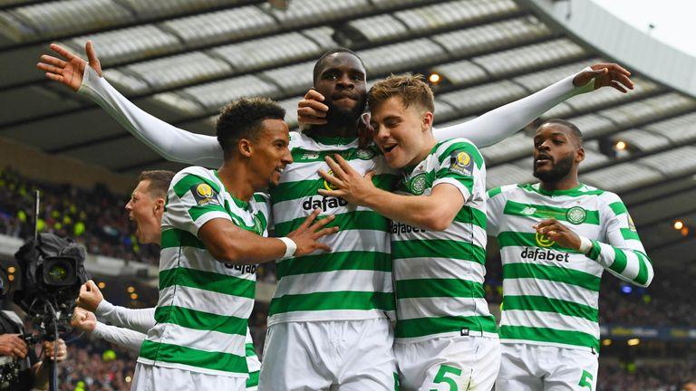 Celtic forward Odsonne Edouard scored twice against Hearts