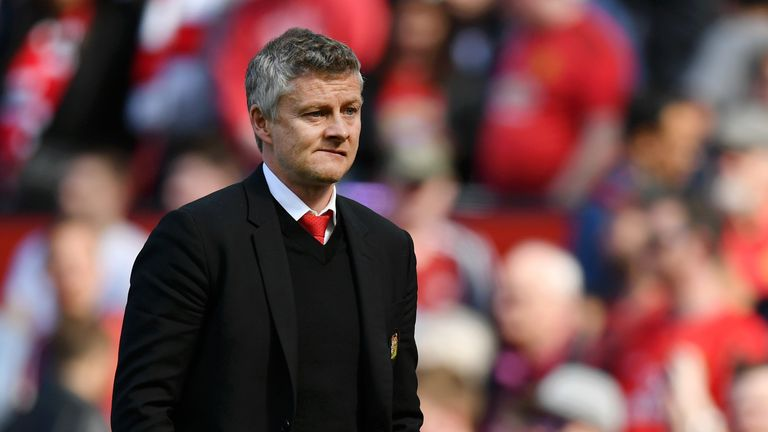Ole Gunnar Solskjaer during Manchester United's match vs Cardiff City at Old Trafford