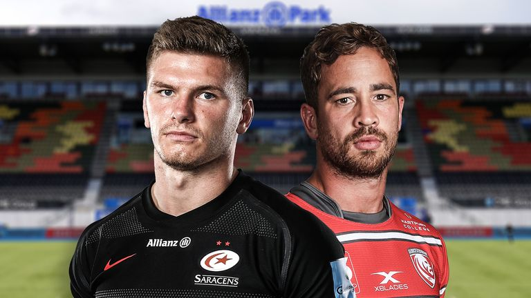 Saracens' Owen Farrell and Gloucester's Danny Cipriani go go head-to-head this Saturday