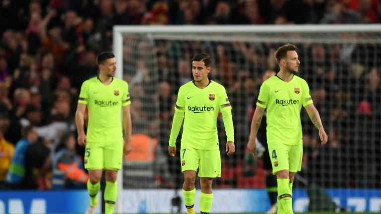 Barcelona succumbed to a shock Champions League defeat at Anfield
