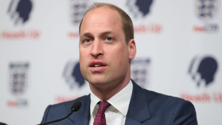 FA president Prince William discussed mental health with current and ex-pros for the documentary