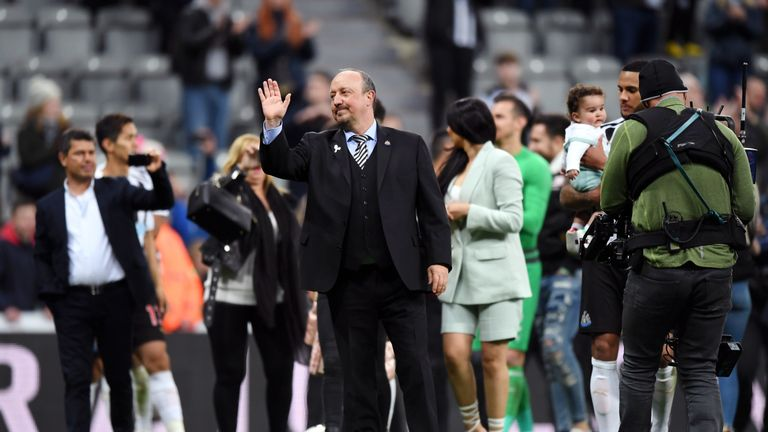 Rafa Benitez departed after falling out with Mike Ashley