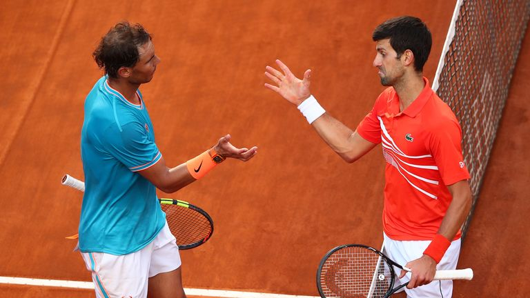 Nadal and Djokovic met in Rome last weekend with Nadal emerging triumphant for his first title of 2019