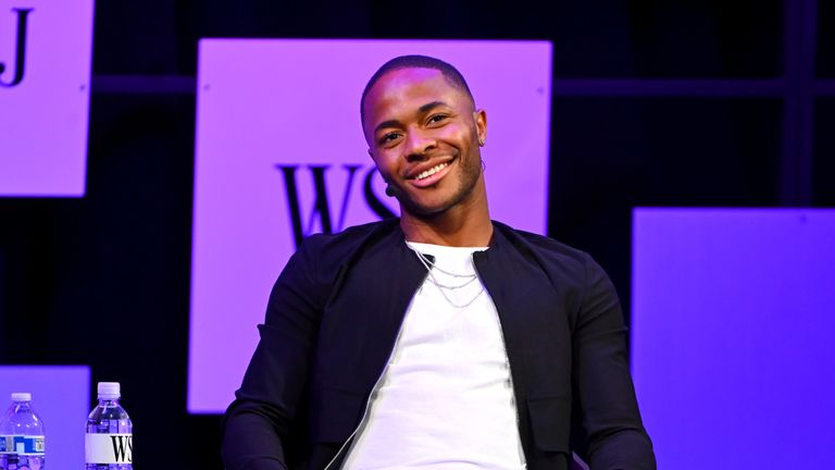 Raheem Sterling attends The Wall Street Journal's Future Of Everything Festival at Spring Studios on May 20, 2019