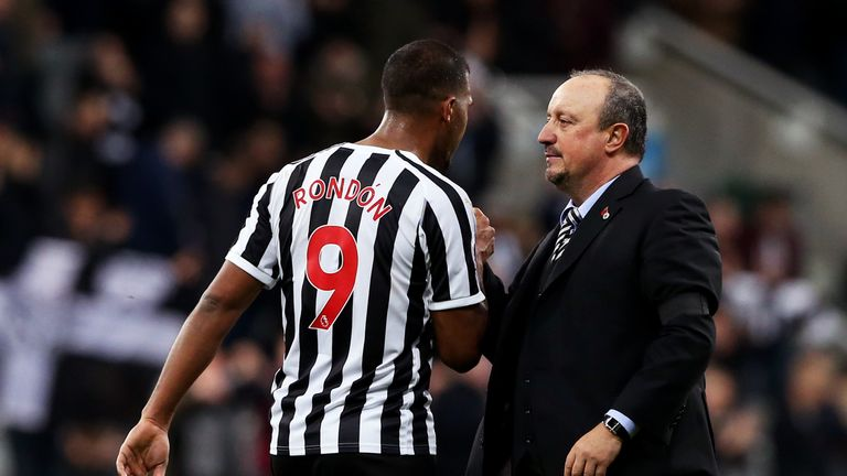 Rafael Benitez hopes to get clarity on Salomon Rondon's future at Newcastle within a fortnight