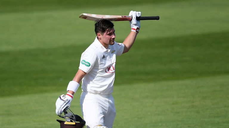 England opener Rory Burns scored a century for Surrey at Taunton