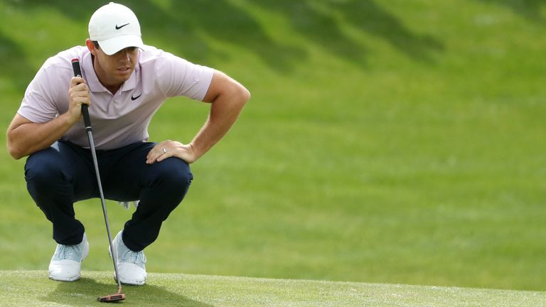 McIlroy is in the group on six under