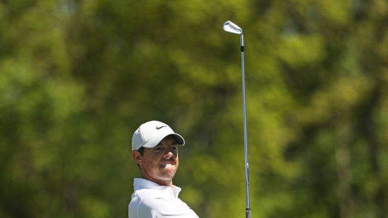 Rory McIlroy is two over for the week