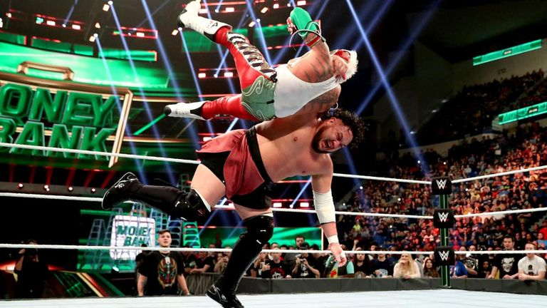 Samoa Joe lost the US title to Rey Mysterio in one of three title changes at Money In The Bank