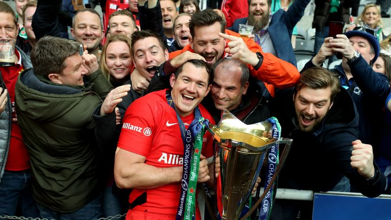Alex Goode became the third Saracens player to win the EPCR European Player of the Year award