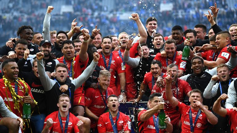 Recently-crowned European champions Saracens are already guaranteed a home Premiership semi-final