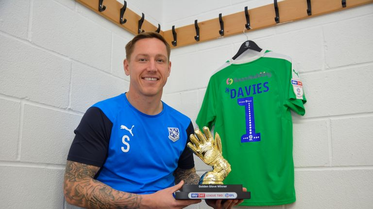 Scott Davies' 19 clean sheets were key in Tranmere's journey to the Sky Bet Play-Offs