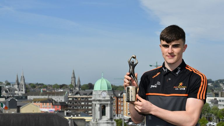 Sean O'Shea of Kerry was voted as the PwC GAA/GPA Players of the Month for April in football
