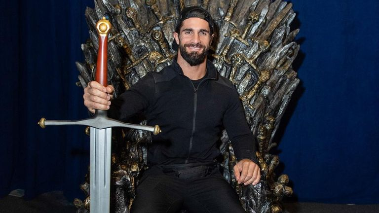 Seth Rollins found time to try out the Iron Throne during some rare down time in Belfast as several WWE superstars took the Game of Thrones tour