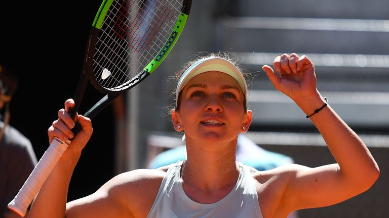 Romania's Simona Halep will be aiming to move back to the top of the WTA rankings on Saturday
