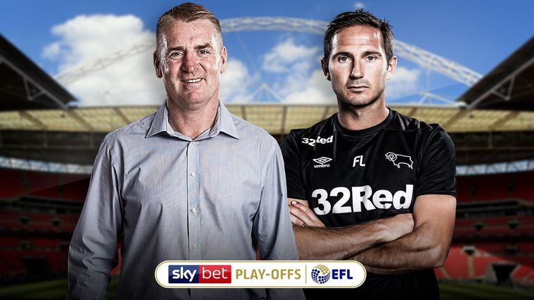 Aston Villa and Derby face each other in the play-off final on Monday, live on Sky Sports Football