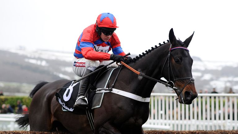 Barry Geraghty riding Sprinter Sacre on their way to winning The Victor Chandler Steeple Chase