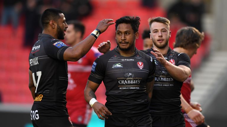 St Helens' full-back Ben Barba scooped the 2019 Super League Man of Steel award