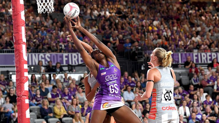 Super Netball in Australia attracts the biggest names in sold-out arenas - the goal for Adams and the Superleague