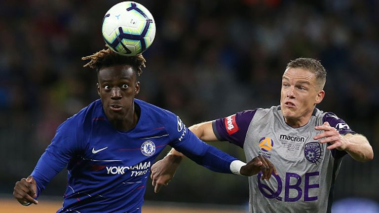 during the international friendly between Chelsea FC and Perth Glory at Optus Stadium on July 23, 2018 in Perth, Australia.