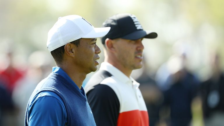 Tiger Woods played alongside Brooks Koepka over the first two rounds