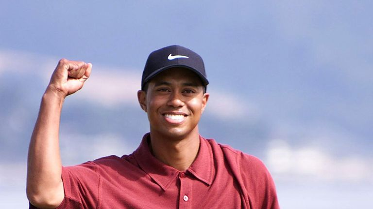 Woods claimed a record-breaking 15-shot victory at Pebble Beach during the 2000 US Open