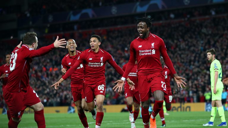 Divock Origi scored the crucial goal for Liverpool in the semi-final against Barcelona at Anfield