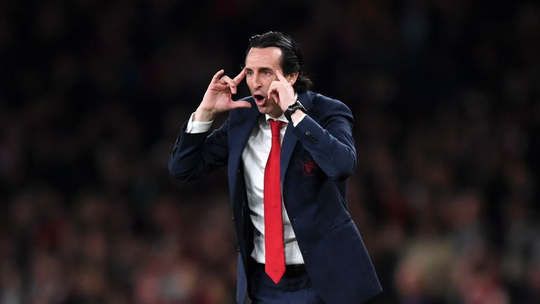 Unai Emery wants his Arsenal players to keep their concentration with their Europa League semi-final with Valencia still '50/50'
