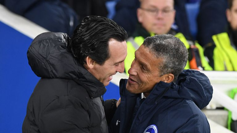 Hughton admires the work Unai Emery has done in his first season at Arsenal