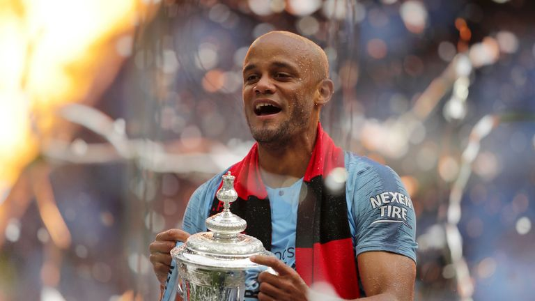 Vincent Kompany is returning to Belgium with his boyhood club Anderlecht