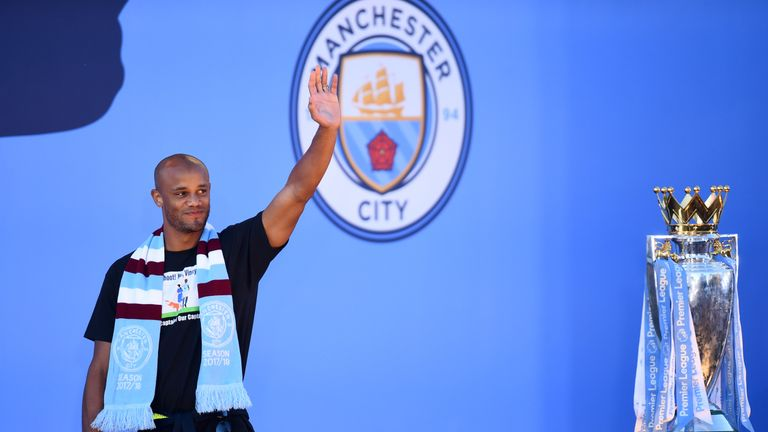 Vincent Kompany departs Manchester City after winning four Premier League titles, two FA Cups and four League Cups.