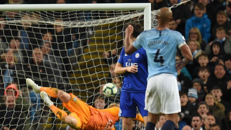 Vincent Kompany scored a wonder goal as Man City beat Leicester 1-0