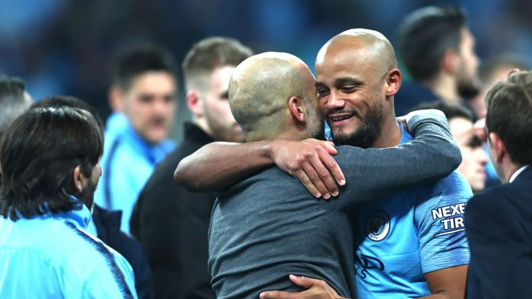 Manchester City boss Pep Guardiola says he will miss Vincent Kompany at the club.