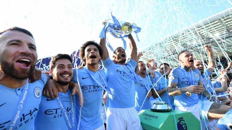 Manchester City are hunting a third successive Premier league crown