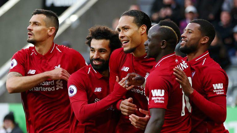 Virgil van Dijk opened the scoring for Liverpool against Newcastle