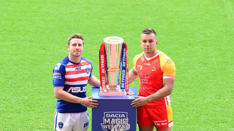 Wakefield's Kyle Wood and Catalans' Mickael Goudemand will be part of the Magic Weekend opener
