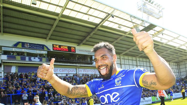 Ryan Atkins celebrates his side's victory