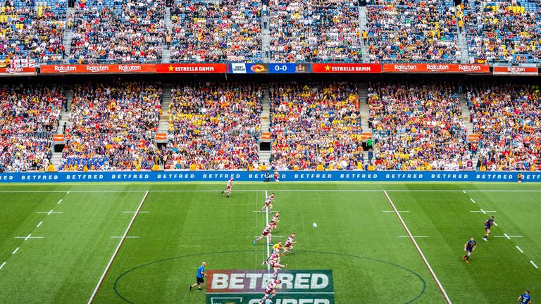 The match between Catalans and Wigan was played in front of a record Super League crowd