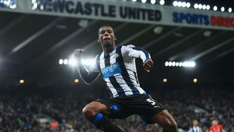 Wijnaldum scored in Newcastle's victory over Liverpool at St. James' Park in December 2015