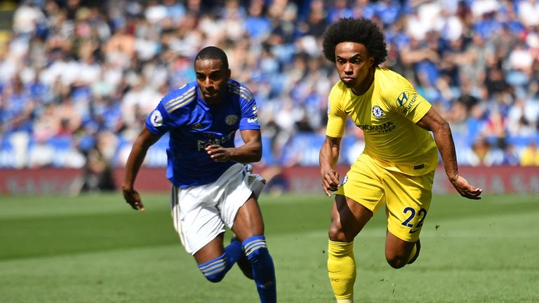 Chelsea and Leicester played out a 0-0 draw at the King Power Stadium on the final day of the Premier League season on Sunday