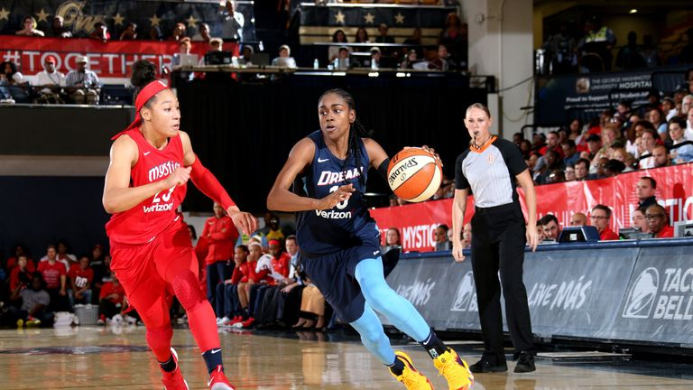 Tiffany Hayes in action against the Washington Mystics