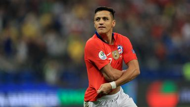 Alexis Sanchez hit Chile's winning penalty in the victory over Colombia