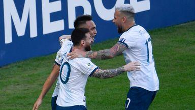 Argentina celebrate reaching the semi-finals