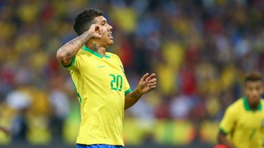 Roberto Firmino came off the bench to score in Brazil's 7-0 thrashing of Honduras