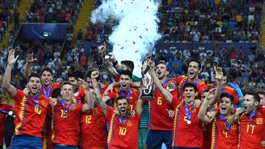 Spain lift the U21 European Championships trophy