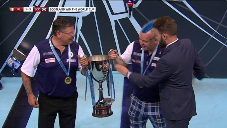 Scotland celebrate clinching the title!