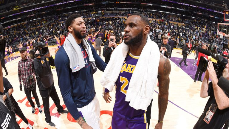 Anthony Davis and LeBron James will now team up in Los Angeles