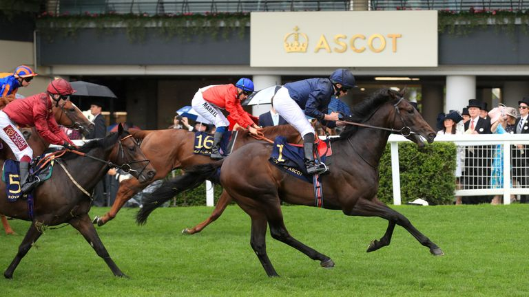 Arizona and Ryan Moore win the Coventry Stakes