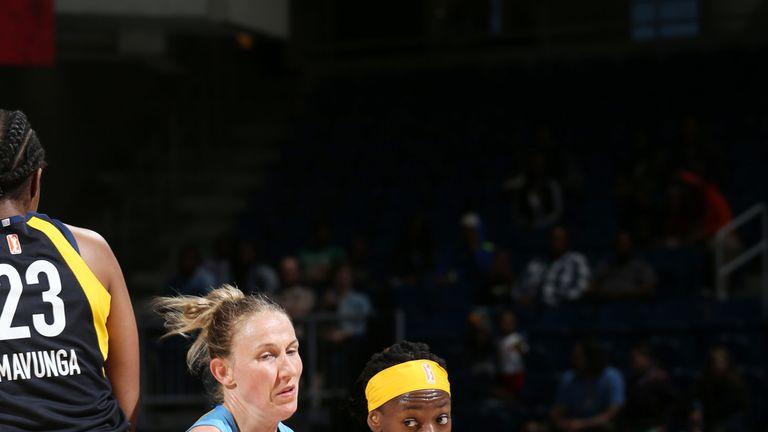 Erica Wheeler handles the ball against Chicago